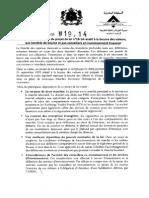 Maroc note de présentation du projet de loi n° 19-14 relatif à la bourse des valeurs