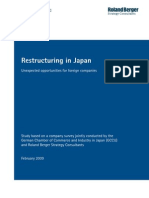 Restructuring in Japan e
