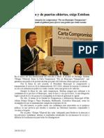 28.09.2013 Comunicado Exige Esteban Transparencia