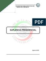 Suplencia Presidencial Mexicana