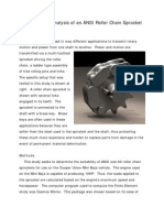Finite Element Analysis of an ANSI Roller Chain Sprocket