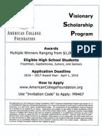 Visionary Scholarship Program