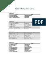 Plan Lector Anual 2015
