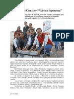 """12-12-2014 Construyen Comedor """"Nuestra Esperanza"""""""