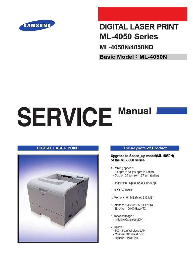 Samsung ML 4050 Service Manual   Electrostatic Discharge   Ac Power Plugs  And Sockets