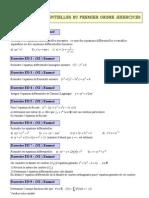 Equation Différentielle d'ordre 1