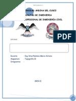 Informe Eje, Perfil y Seccion Transversal
