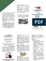 Triptico Oficial de Psicologia Educativa