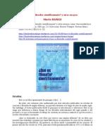 ¿Qué Es Filosofar Científicamente y Otros Ensayos 2009 Bunge, M.