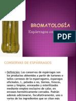 Bromatología esparragos exposición