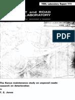 1_274_LR1111 Kenya Maintenance Study - Research on Deterioration