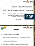 Canadian Army 2014 Tactical Wheeled Vehicles Conference