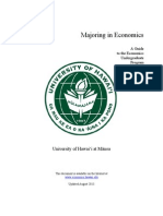 University of Hawaii at Manoa Econonomics Undergraduate Guide 2014