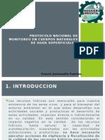 Protocolo Nacional de Monitoreo en Cuerpos Naturales De