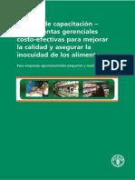 FAO Herramientas Gerenciales Costo Efectivas Para Mejorar La Calidad de AlimentosC