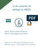 Manual de Creación de Un Catálogo en ABCD