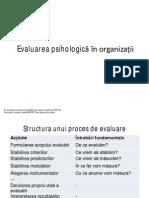 Evaluarea Psihologică În Organizații