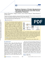 Comparison of the Membrane Proteome of Virulent Mycobacterium