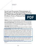 Social and Economic Determinants of Disparities in Professional Help-Seeking for Child Mental Health Problems