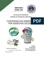 Contaminacion Ambiental Por Desechos Solidos Definitivo