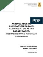 Actividades de ampliacion para el alumnado con Altas Capacidades en EPO