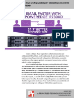 Better email response time using Microsoft Exchange 2013 with the Dell PowerEdge R730xd