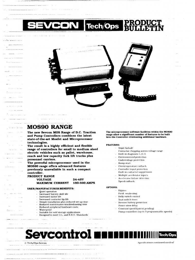 Sevcon MOS90 DC Traction and Pump Controller Datasheet1