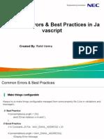 JavaScript Common Mis JavaScript Common Mistakes & Best Practicestakes & Best Practices