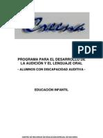 Programa para el desarrollo de la Audicion y el Lenguaje Oral