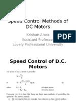 Speed Control Methods