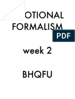 Emotional Formalism Week 2