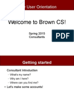 Brown CS New User Orientation