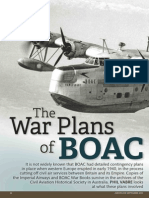 The War Plans of Boac in WW2