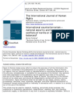 International Counterterrorism – National Security and Human Rights_conflicts of Norms or Check and Balances