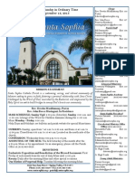 Bulletin for September 13, 2015