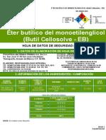 Eter Butilico Del Monoetilenglicol Butil Cellosolve-EB