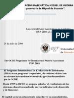 Las Competencias Matematicas en Pisa