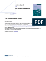 Theatre of Alain Badiou