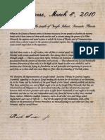 Google Island Declaration of Independence