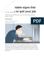 4 Undeniable Signs That It's Time to Quit Your Job
