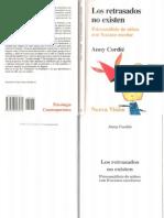 Los retrasados no existen. Psicoanálisis de niños con fracaso escolar [Anny Cordié](1).pdf