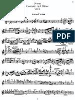 Dvorak Violin Concerto Op 53 Violin