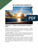 RESUMEN DE LA ENCÍCLICA LAUDATO SI.docx
