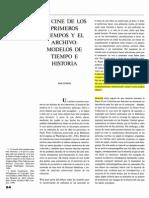 El Cine de Los Primeros Tiempos y El Archivo Modelos de Tiempo e Historia.