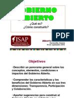 """Conferencia """"Gobierno Abierto"""" ISAP"""
