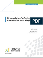 Five Best Practices for Success Selling IBM Software White Paper 021014 Final