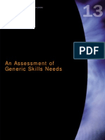An Assessment of Generic Skills Needs