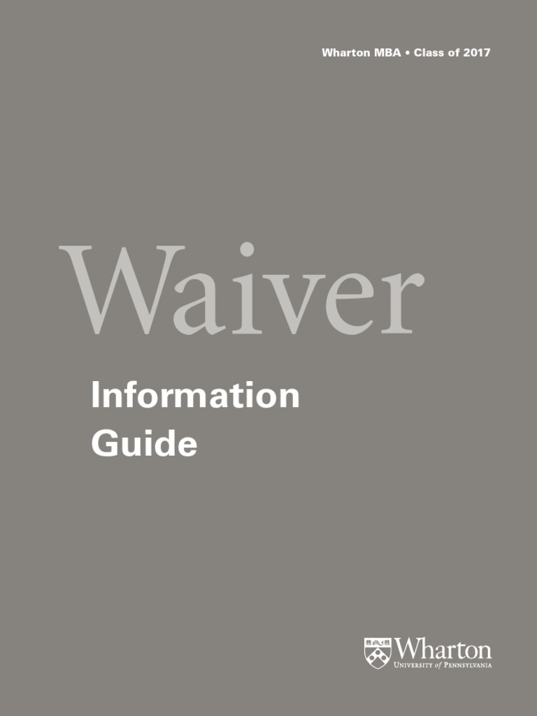 Wharton waiver guide debits and credits accounting fandeluxe Image collections