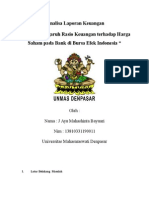 Tugas Analisa Laporan Keuangan