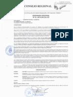 Ordenanza del Gobierno Regional de Cajamarca